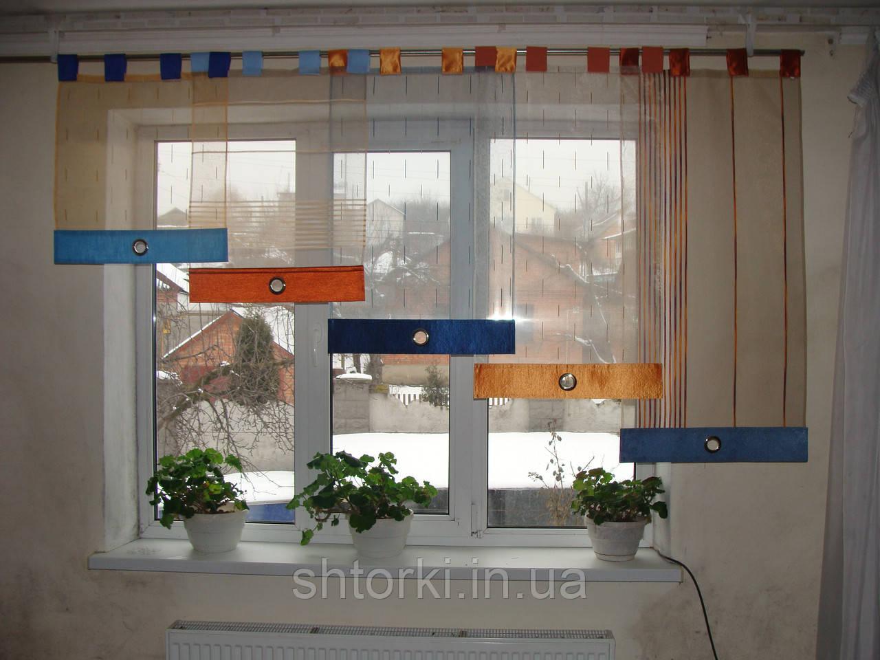 Японские панельки   Цветные на петлях, 2,5м