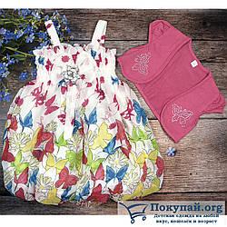 Летнее платье с болеро для девочек Размеры: 2-3,3-4,4-5 лет (6137-2)