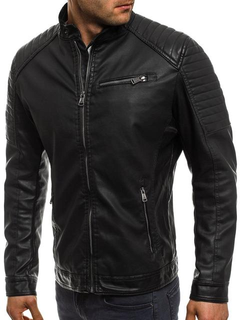 Мужские куртки из кожзаменителя