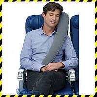 Дорожная надувная Подушка для путешествий с боковой поддержкой (grey)!