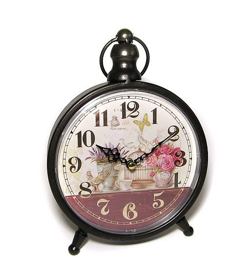 Часы настольные винтажные Цветы
