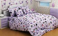 Комплект постельного белья полуторный, ранфорс 100% хлопок. Постільна білизна. (арт.9345)