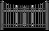 Забор металлический секционный   Цена на секционные металлические секционные заборы от производителя