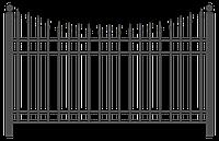 Забор металлический секционный | Цена на секционные металлические секционные заборы от производителя