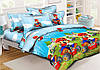 Комплект детского постельного белья полуторный, ранфорс 100% хлопок. Постільна білизна. (арт.9383)