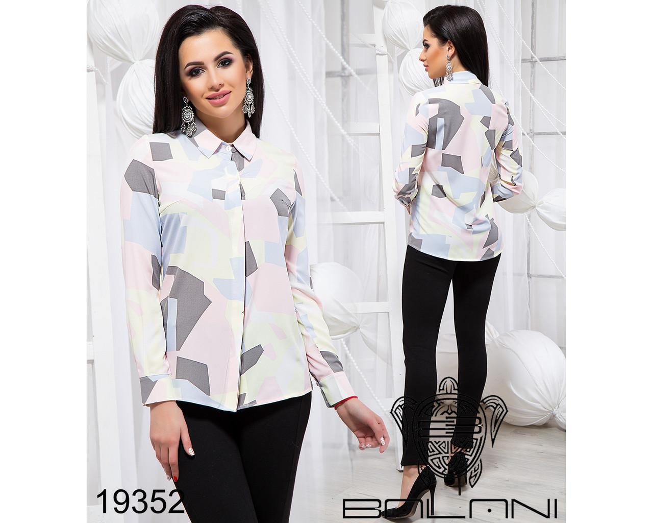 Стильная принтованая блуза - 19352