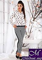 Модные женские леггинсы в ромбик (р.S, M, L, XL) арт.10050