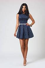Расклешеное летнее платье мини с тонким ремешком , фото 3