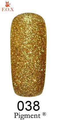 Гель-лак F.O.X 038 Pigment золотистые блестки, 6 мл, фото 2