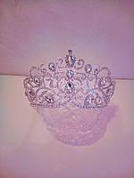 Свадебная корона, диадема, тиара в серебре для невесты,  высота 8,5 см., фото 1