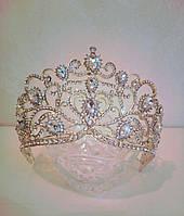 Корона, диадема, тиара под золото,  высота 8,5 см., фото 1