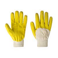 Перчатки хозяйственные V-v Latex желто-белые