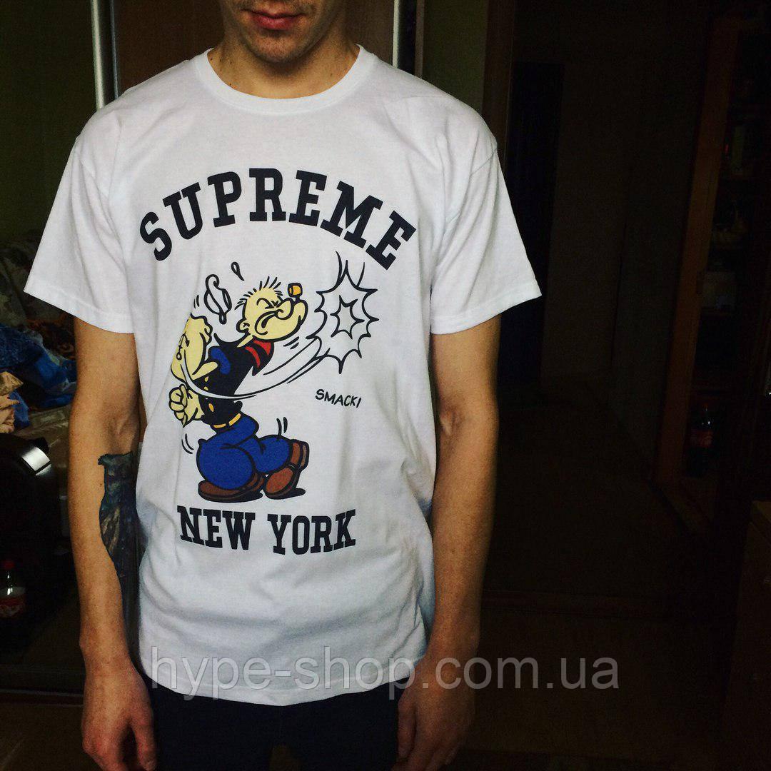 Женская футболка в стиле Supreme   Самый Топ