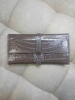 Кошелек кожаный женский Hermes коричневый