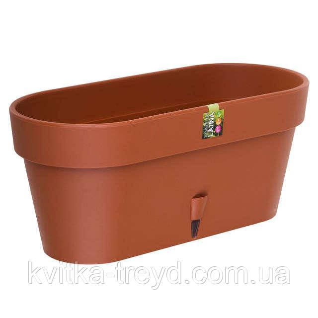 Вазон для цветов Latina балконник 6,7 литра