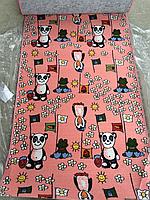 Детская дорожка пингвин на розовом 1м