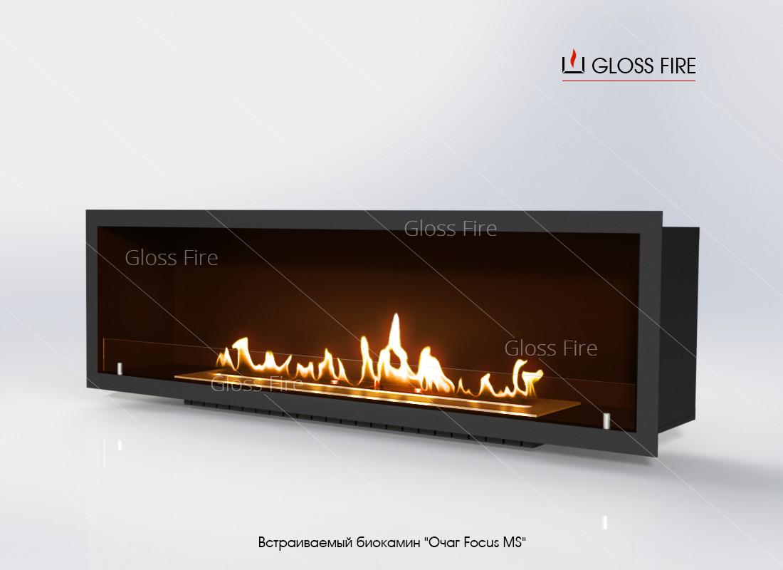 Встраиваемый биокамин GlossFire Очаг Focus MS