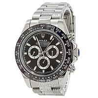 Классические мужские часы Rolex Daytona AAA Silver-Black-Black S механические с автоподзаводом.