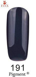 Гель-лак F.O.X 191 Pigment графитово-черный с едва заметным перламутровым микроблеском, 6 мл