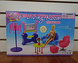 Кукольная мебель Глория Gloria 2904 Стильная модная гостинная, фото 3