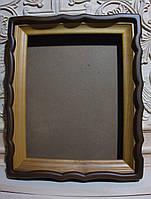 Киот для иконы фигурный с внутренней деревянной рамой., фото 1
