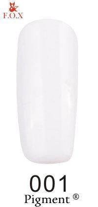 Гель-лак F.O.X 001 Pigment белый, 6 мл, фото 2