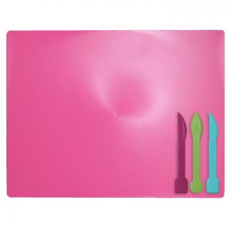 Доска для пластилина, 3 стека, розовая, ZB.6910-10