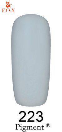 Гель-лак F.O.X 223 Pigment серый, 6 мл, фото 2