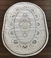 Турецкие ковры на пол 3447 бежевого цвета