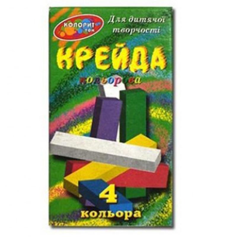 """Мел цветной 4 цвета, квадратный  """"Колорит"""" ,72x216, МЦП-4"""