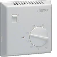 Термостат біметалевий Hager EK051, ручное ВКЛ/ВИМК 230В/ 10А, контакт - НВ