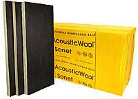 Акустическая минеральная вата, кашированная стеклохолстом черного цвета,AcousticWool Sonet P, 80 кг/м3,(4,2 м