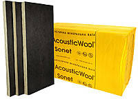 Акустична мінеральна вата, кашована склохолстом чорного кольору,AcousticWool Sonet P, 80 кг/м3,(4,2 м