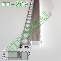 Алюминиевый Z-образный профиль для плитки, SINTEZAL® ПЛ-209, 40х14мм.