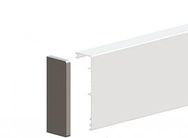 Маскировачная планка для сетклянных дверей Valcomp Herkules GLASS