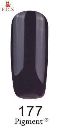 Гель-лак F.O.X 177 Pigment черный, 6 мл, фото 2