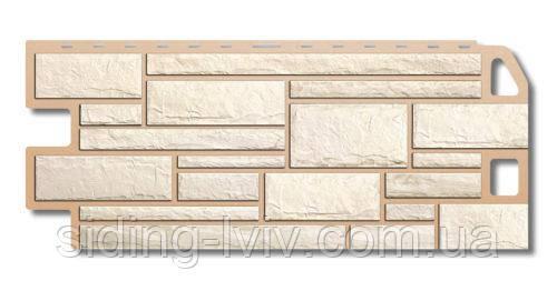 Фасадна панель під камінь Білий Камінь Альта Профіль (пластиковий цокольний сайдинг)