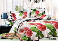 """Комплект постельного белья двуспальный, ранфорс, 3D """"Поздравление"""""""