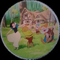 """Вафельная картинка """"Белоснежка № 1"""", диаметр 20 см, фото 1"""