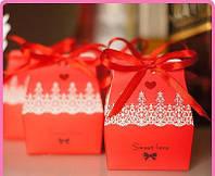 Коробочки для конфет sweet love 9х7х5 см., красные