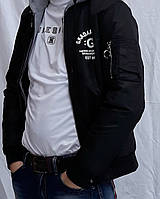 Куртка осенне-весенняя черная
