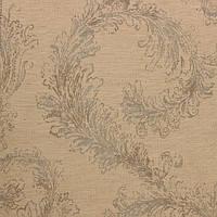 Жаккардовая ткань для штор COLOMBUS-3200-001 с голубым растительным рисунком
