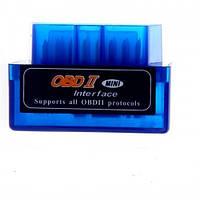 Диагностический OBD2 Bluetooth сканер ELM327 mini V2.1, Синий