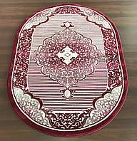 Стильные ковры на пол 3448  красного цвета