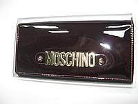 Кошелек MOSCHINO  из натуральной лаковой  кожи (реплика)