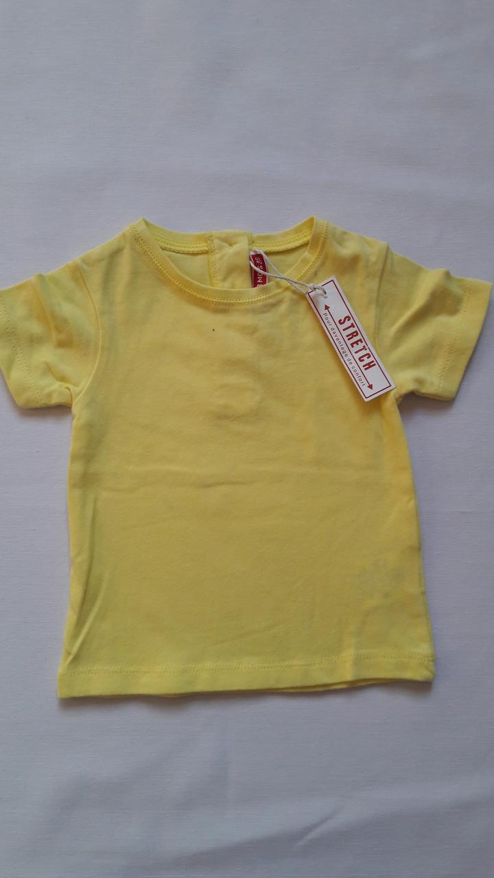 Футболка DPam 3мес желтая