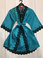 Комплект халат и пеньюар, женская одежда для дома.
