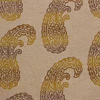 Жаккардовая ткань для штор и декора SANTA CLARITA-8900-008 с орнаментом пейсли