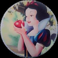"""Вафельная картинка """"Белоснежка № 5"""", диаметр 20 см"""