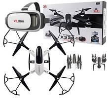 Квадрокоптер дрон REAL-TIME X33C-1 + окуляри VR